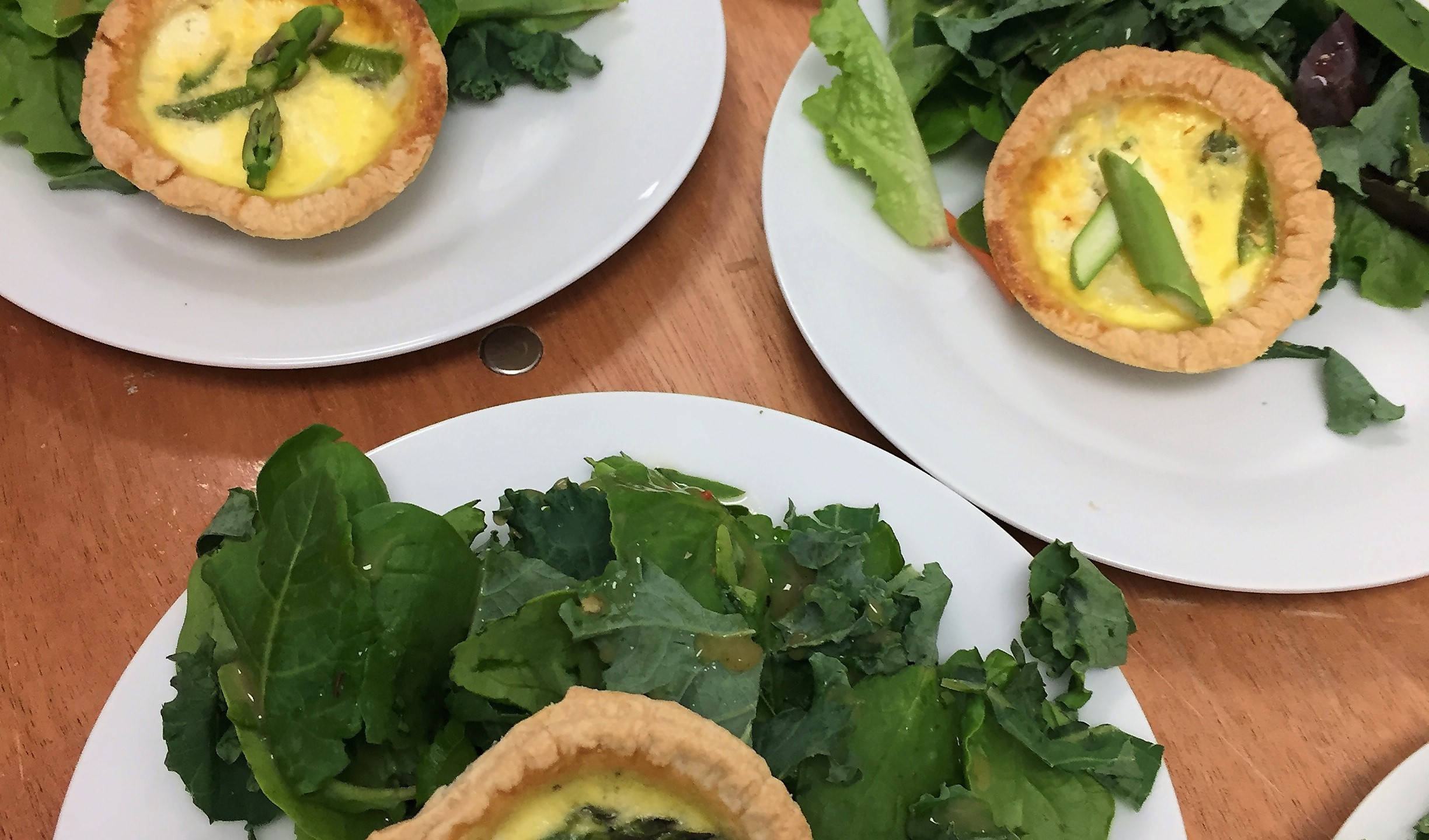 Asparagus and Vidalia Onion Tartlet Salad