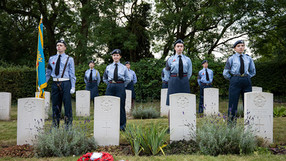 AIR CADETS HOLD BATTLE OF BRITAIN MEMORIAL CEREMONY