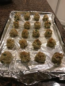 Crab balls prepped!