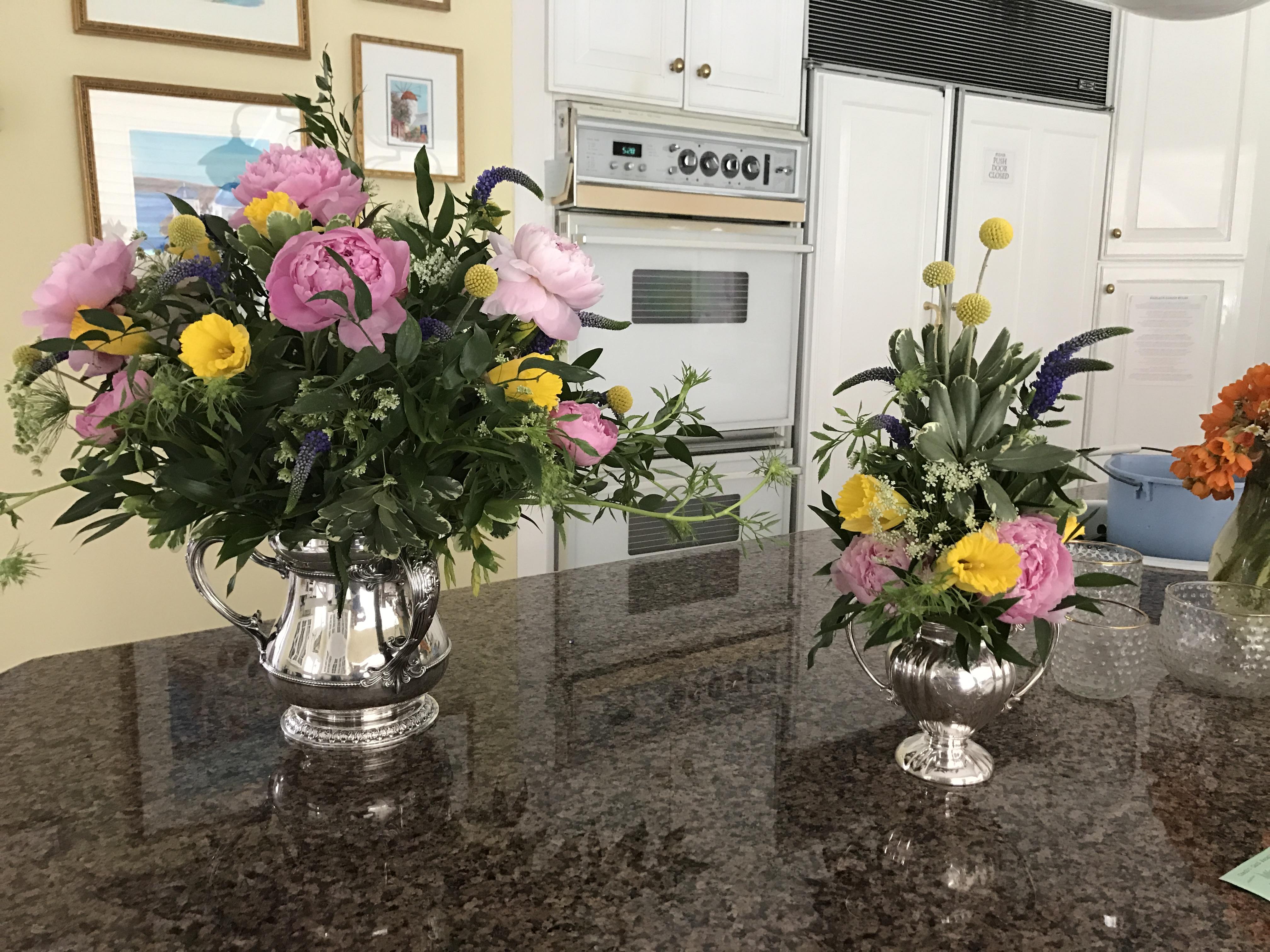 Flowers arranged!