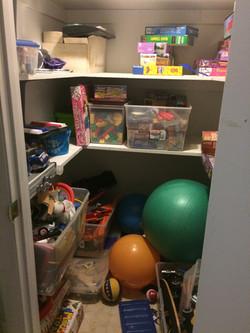 Before-Storage Closet