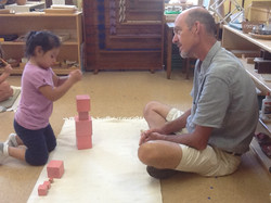 Pink tower, first lesson
