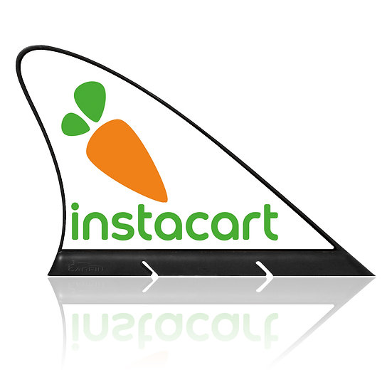 Instacard CARFIN, Magnetic Car Flag &  Car Sign.