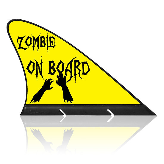 Zombie on Board CARFIN, Magnetic Car Flag  & Car Sign.