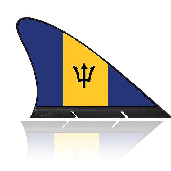 Barbados CARFIN, Magnetic Car Flag & Car Sign.