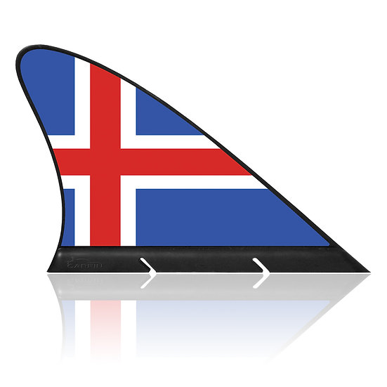 Iceland CARFIN, Magnetic Car Flag & Car Sign.