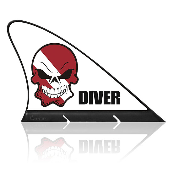 Diver CARFIN, Magnetic Car Flag & Car Sign.