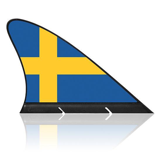 Sweden CARFIN, Magnetic Car Flag & Car Sign.