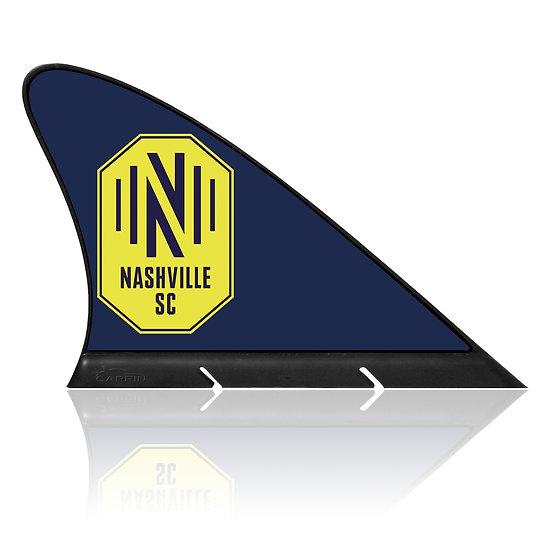 Nashville SC CARFIN, Magnetic Car Flag  & Car Sign.