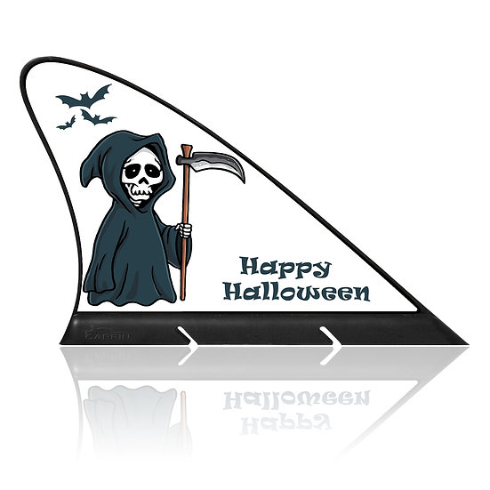 Happy Halloween CARFIN, Magnetic Car Flag  & Car Sign.