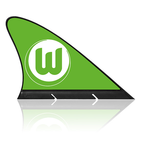 VfL Wolfsburg CARFIN, Magnetic Car Flag  & Car Sign.