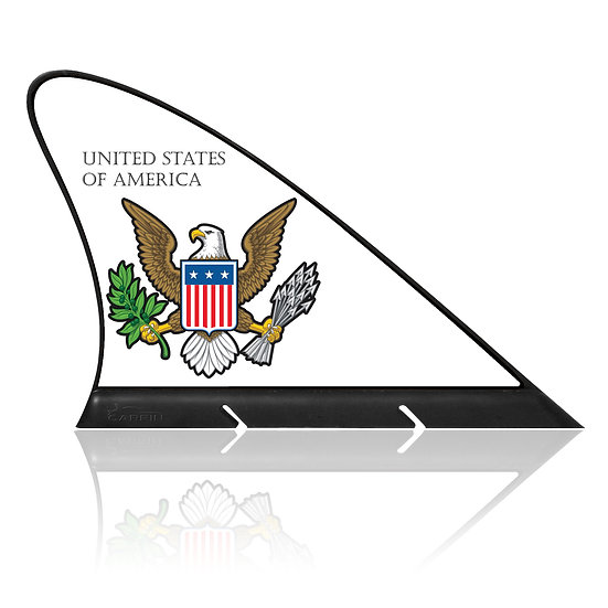 United State of America CARFIN, Magnetic Car Flag  &  Car Sign.