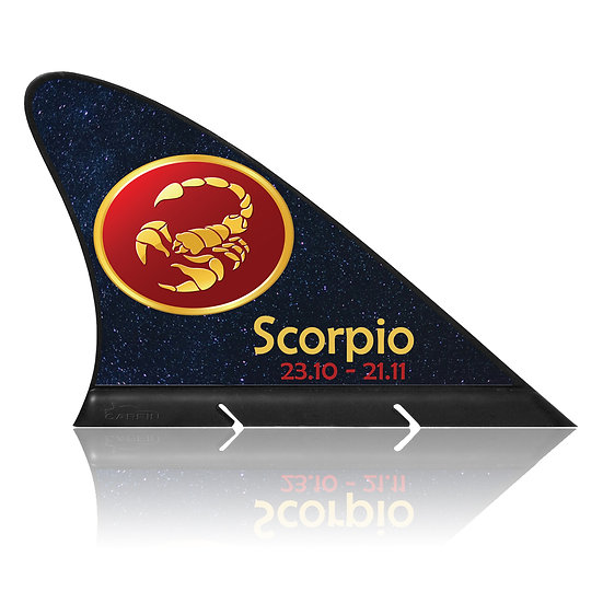 Scorpio CARFIN, Magnetic Car Flag & Car Sign.