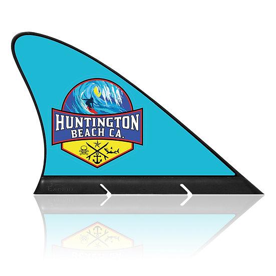 Huntington Beach CARFIN, Magnetic Car Flag & Car Sign.