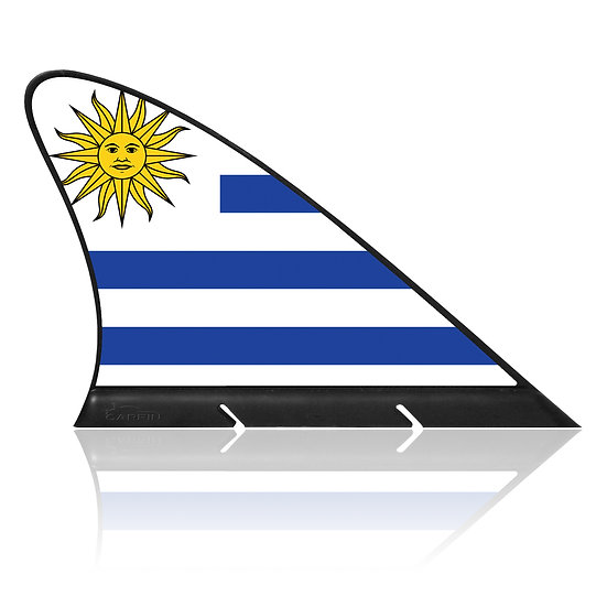 Uruguay CARFIN, Magnetic Car Flag & Car Sign.