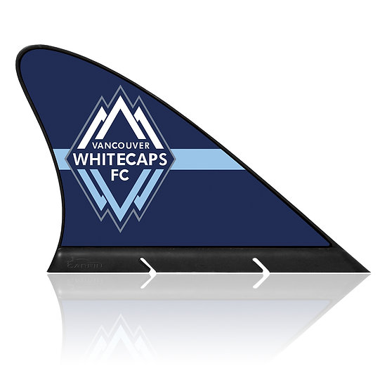 Vancouver Whitecaps FC CARFIN, Magnetic Car Flag  & Car Sign.