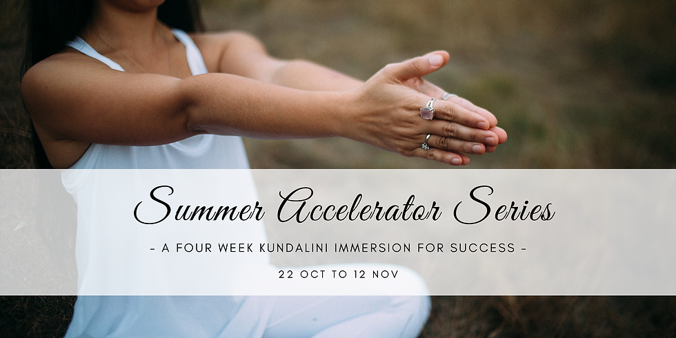 Summer Accelerator Series ~ an immersion for Success