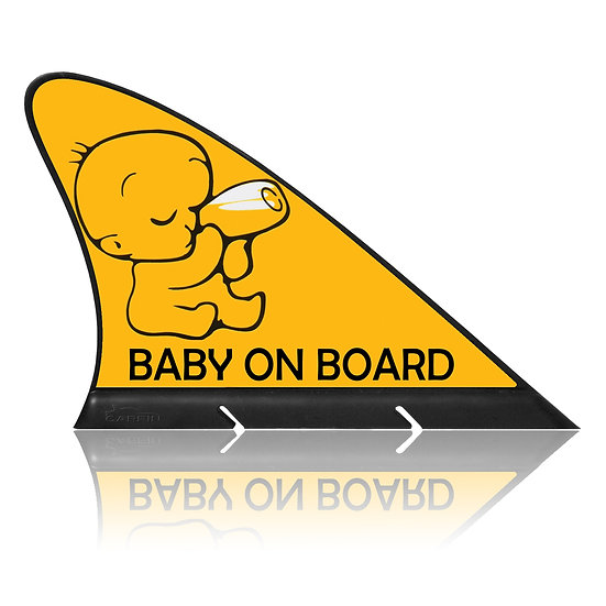 Baby on Board CARFIN, Magnetic Car Flag  & Car Sign.