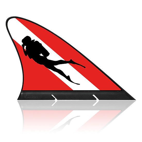 Diving CARFIN, Magnetic Car Flag & Car Sign.