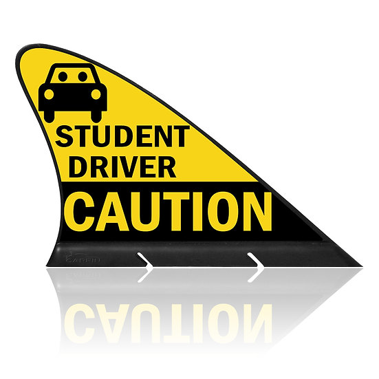 Student Driver CARFIN, Magnetic Car Flag  &  Car Sign.