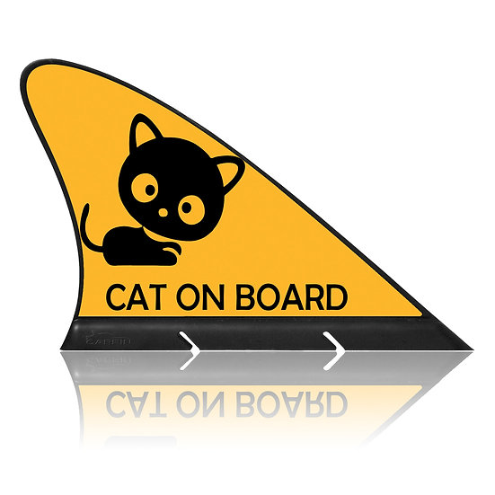 Cat on Board CARFIN, Magnetic Car Flag  & Car Sign.