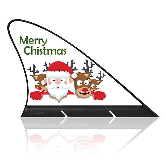 Marry Christmas CARFIN, Magnetic Car Flag  & Car Sign.