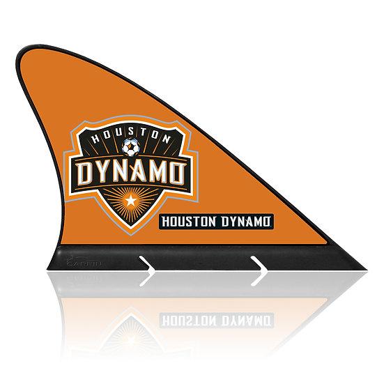 Houston Dynamo FC CARFIN, Magnetic Car Flag  & Car Sign.