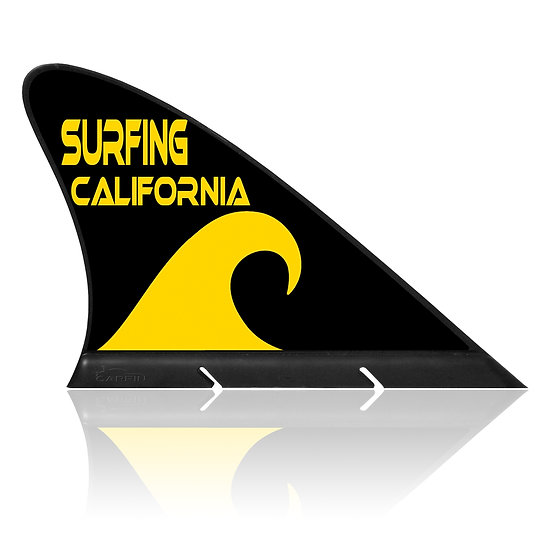 Surfing California CARFIN, Magnetic Car Flag & Car Sign.