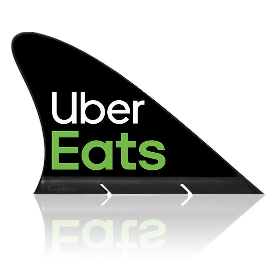 Uber Eats CARFIN, Magnetic Car Flag  &  Car Sign.