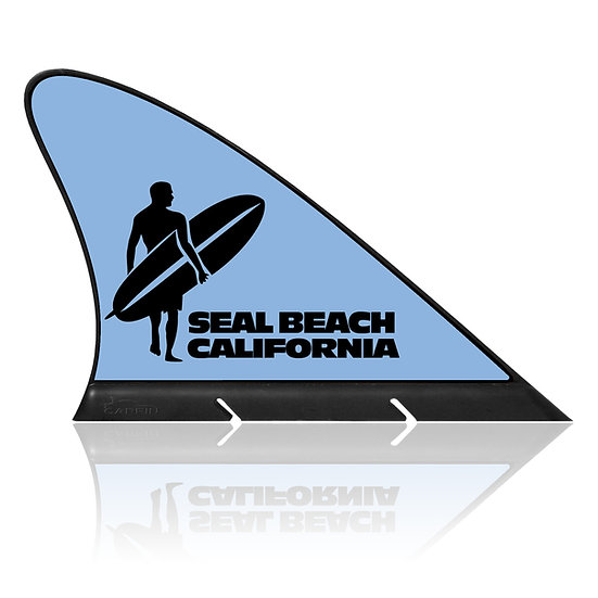 California Seal Beach CARFIN, Magnetic Car Flag & Car Sign.