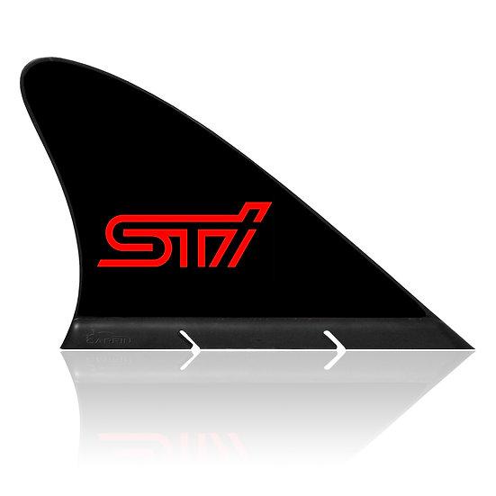 Subaru STI  CARFIN, Magnetic Car Flag  & Car Sign.