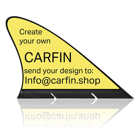 "Create your Own ""REFLACTABLE"" CARFIN, Magnetic Car Flag &  Car Sign."