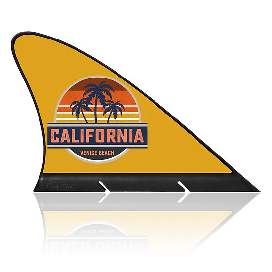 California Venice beach CARFIN, Magnetic Car Flag & Car Sign.