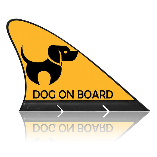 Dog on Board CARFIN, Magnetic Car Flag  & Car Sign.