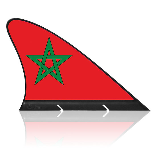 Morocco CARFIN, Magnetic Car Flag & Car Sign.
