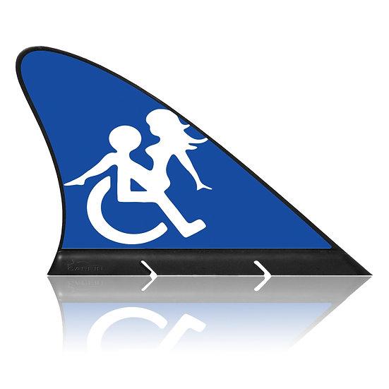 Handicap  CARFIN, Magnetic Car Flag  &  Car Sign.