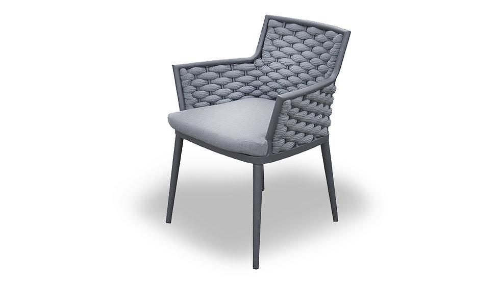 Tuinstoel XG Lion rope chair antraciet