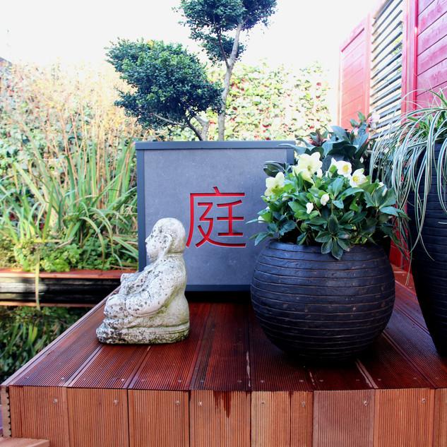 XG Cupid bloembak Japanse tekens