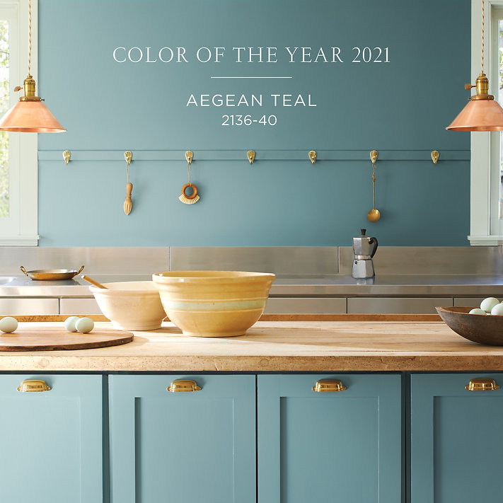 Benjamin Moore Color of the Year - Aegean Teal
