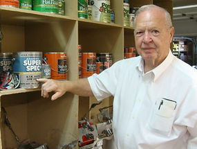 Strothkamp's Paint Center owner Bob Strothkamp. Bob has been in the paint business for over 70 years both as painter and small business owner.
