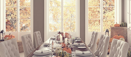 Dining Room With Perfectly Matched Colors