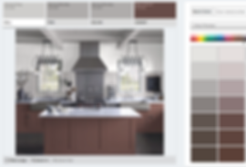 Kitchen Designed Using Benjamin Moore Personal Color Viewer
