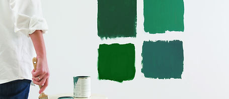 Gree Color Swatches for Paint Selection
