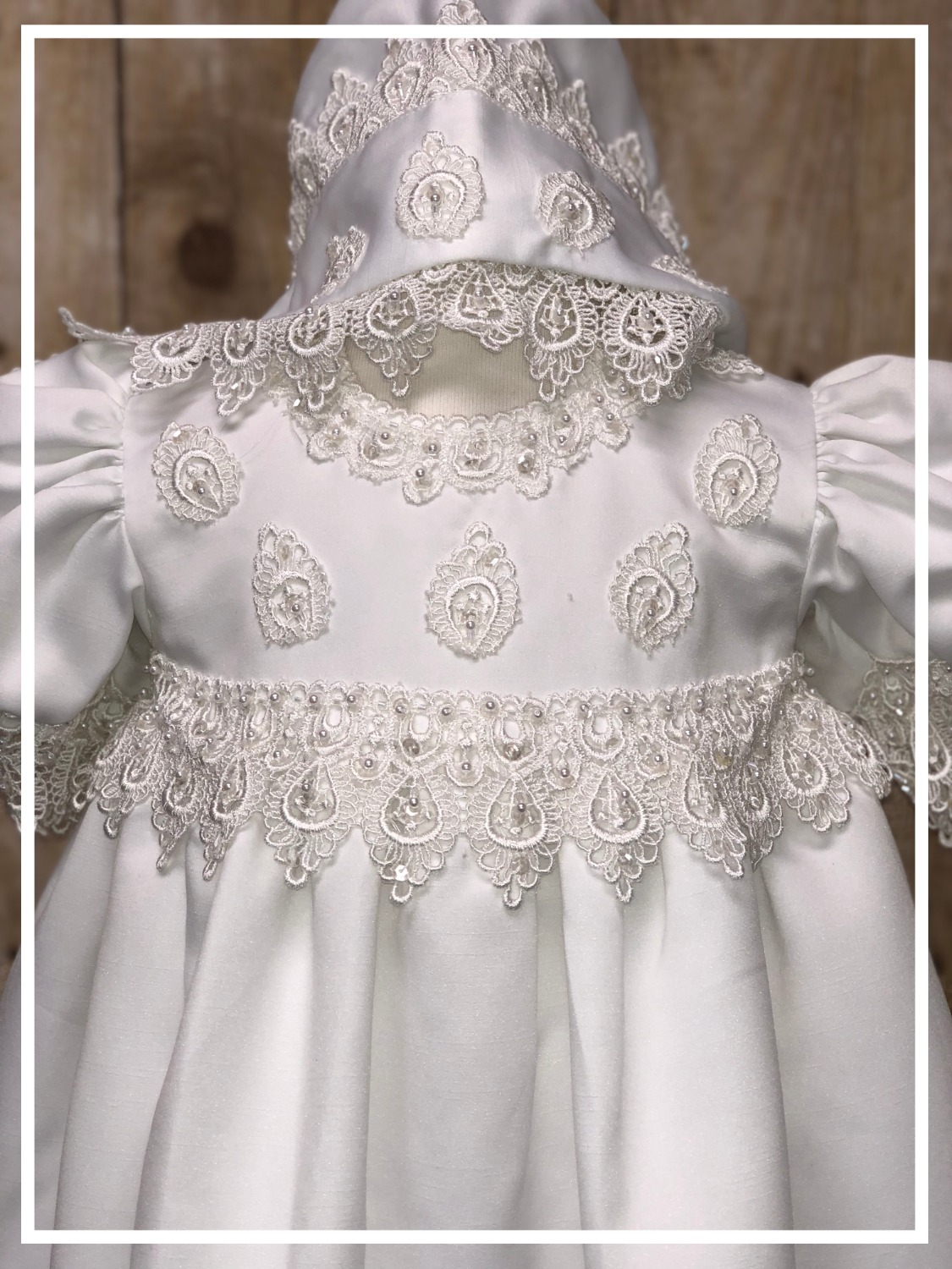 Baptismal dress Christening gown