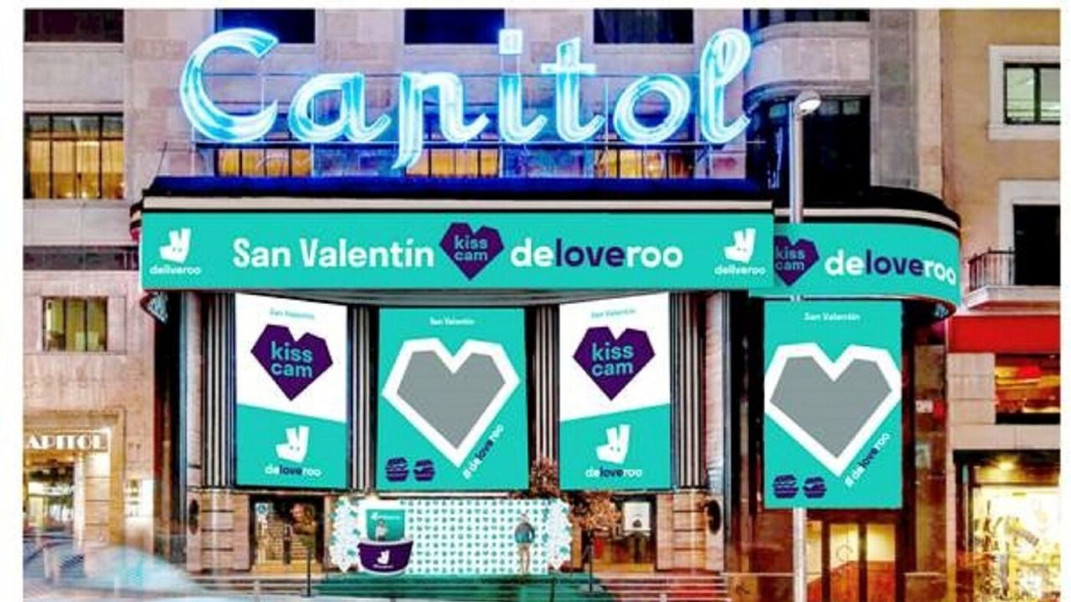 Love is in the air thanks to Deliveroo