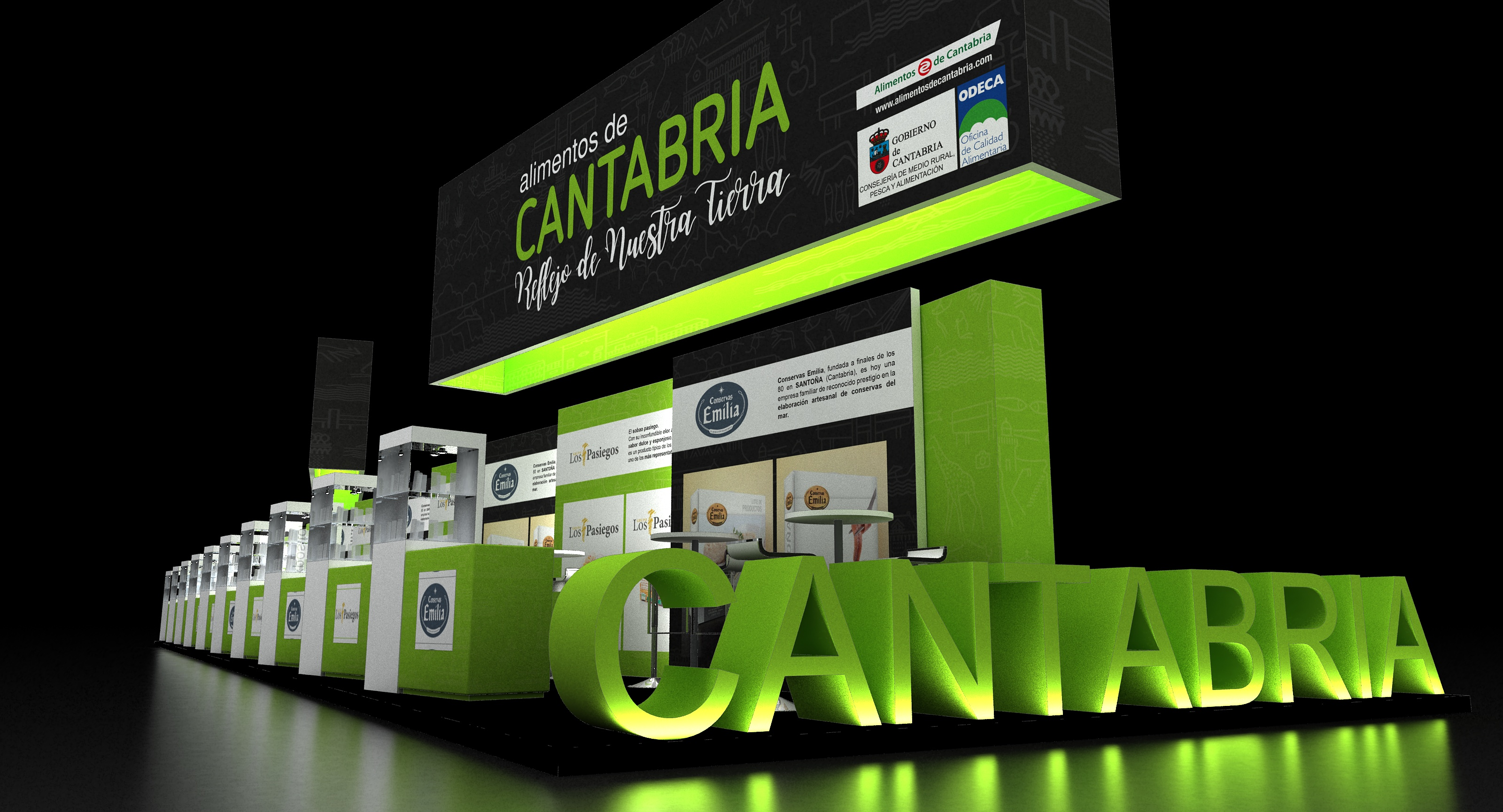 Di&P Gourmet Cantabria proyecto Stand