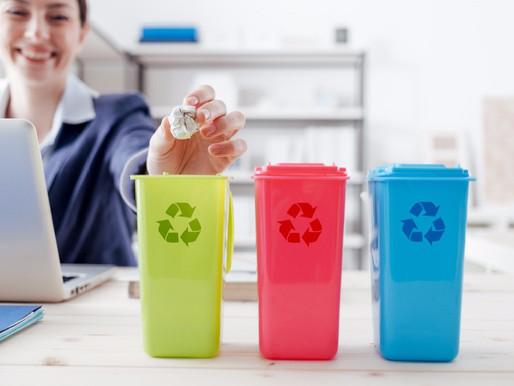 ¿Cómo reciclar durante el trabajo?