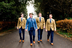 Fitted wedding suits