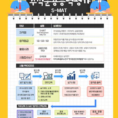 한국증권인재개발원 S-MAT 자격증 시험 안내