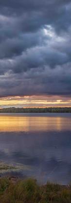 Later summer sunset Levijarvi